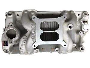 Edelbrock Aluminum Intake Manifold 7501 Rpm Air Gap Sbc Small Block Chevy