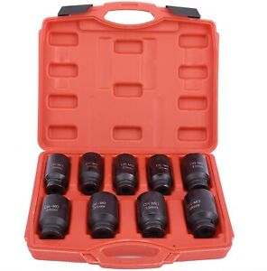9pcs 1 2 Drive Axle Nut Impact Sockets Set Removal Installation Of Axle Nuts Us