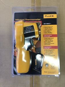 Fluke 62 Max Handheld Infrared Dual Laser Thermometer Brand New