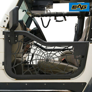 Eag Tubular Spider Web Door With Sideview Mirror Fit For 97 06 Jeep Tj Wrangler