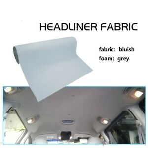 60 X 48 Car Headliner Fabric Gray Upholstery Backed Foam Sagging Repair Restore