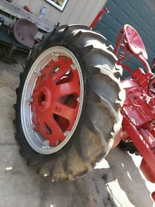 Farmall F20 Tractor Tires Rims Cast Centers 12 4x36 Nice Set Complete Good Year