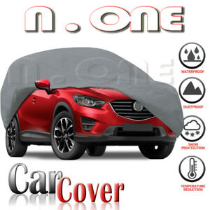 Soft Cotton Car Cover All Weather Breathable Multi layer Lining Fit Mazda