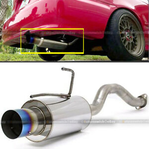 Fit 92 00 Civic 2 4 Dr Stainless Bolt On Axle Back Exhaust Muffler Blue Burn Tip