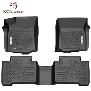 Yitamotor Floor Mats Liner For 2016 2017 Toyota Tacoma Double Cab All Weathe 3pc