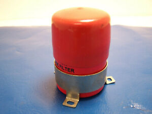 Msd Ignition Noise Filter Noise Capcitor Emi Red W Bracket Cap 8830 Used