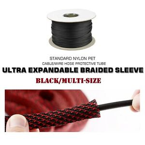 Expanding Braiding Wire Cable Sleeve Wire Loom Tubing Sleeve Heat Resistance