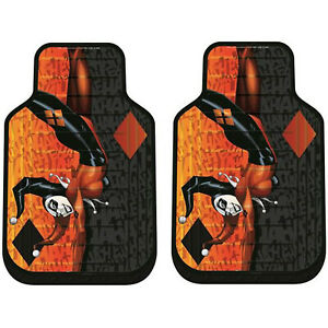 New Dc Comics Harley Quinn Red And Black Front Rubber Floor Mats Universal Fit
