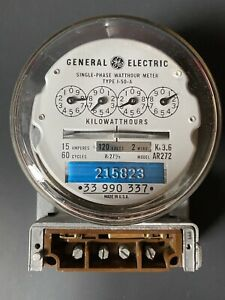 General Electric Single Phase Watthour Meter I 50 a Model Ar272 2 Wire 120 Volt