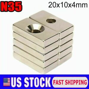 Us Rare Earth Diy Industrial Strong Neodymium Magnet 20mm 10mm 4mm With Hole