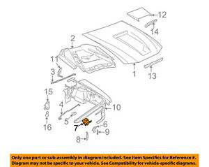 Ford Oem 94 04 Mustang Hood Lock Latch Support F4zz16707a