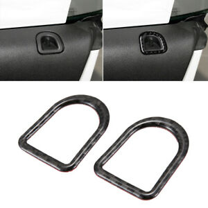 Carbon Fiber Car Door Lock Pins Decal Frame Cover For Ford Mustang 2009 2013