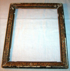 Ca 1880 Antique Tortoise Shell Decorated Frame 8 X 10 Picture 19th Century
