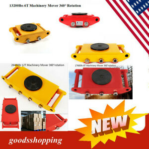 360 Rotation Machine Dolly Skate Machinery Roller Mover Cargo Trolley 6t 8t 12t