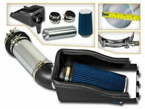 4 Blue Heat Shield Cold Air Intake Filter For 99 03 F250 F350 Super Duty 7 3l