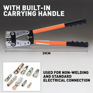 6 50mm Hydraulic Wire Battery Cable Lug Terminal Crimper Plier Crimping Tool Us