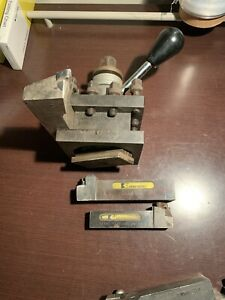 Lot Of 3 Lathe Tool Insert Holder Kennametal And Mounting Tool