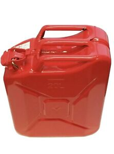 5 Gallon Nato Steel Gas Diesel Water Jerry Can Epa Carb Compliant Red New