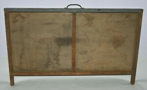 Vintage Printer s Type Drawer Shadow Box Full Size Case 2 Compartment With Legs