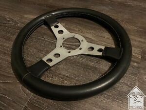 Selm 350mm Black Leather Steering Wheel Jdm Nardi Momo Rare Vintage