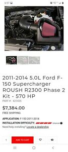 2011 2014 F 150 5 0 Roush Phase 2 Supercharger