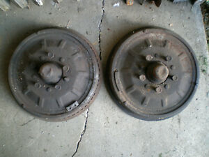 1955 Desoto Front Drums Pair 1956 Chrysler Dodge 55 56 Hemi 392 330 354 341 331