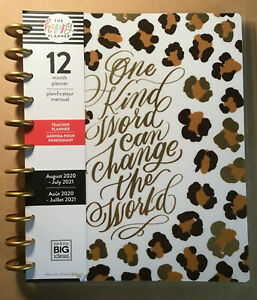New 2020 2021 Me My Big Ideas The Happy Planner Big Teacher leopard Planner