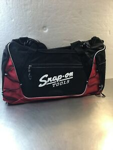 Snap On Tools Red Black Duffel Overnight Bag 20 X 10 Vintage Emblem E