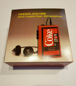 Coca Cola Vintage Vending Machine Stereo Cassette Player with Headphones coke