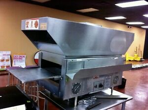 Star Holman Qt14br Commercial Conveyor Warmer toaster Oven W rolling Ss Table