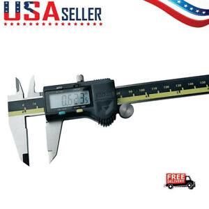 Digital Caliper Stainless Steel Electronic Lcd Micrometer Measuring 0 6 150 Mm