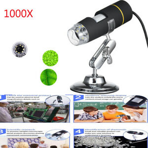 1000x Magnification Usb Digital Microscope Otg Endoscope 8 led With Stand Q6x5