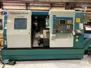 Nakamura Tome Wt 250 Sub Spindle Live Tooling Twin Turret Lns Bar Feeder Cnc