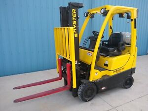 2012 Hyster S30ft 3000lbs Used Forklift W two Stage Mast Side Shift Lp Gas