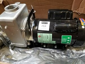 Amt Pump 276a 98 Self Priming Centrifugal Pump Cast Stainless Steel 3 Hp 230v