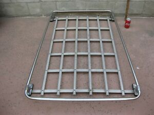 Vtg Roof Rack Station Wagon Luggage Stainless Aluminum Chrome Chevy Ford 1960s