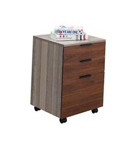 Jjs 3 Drawer Rolling Wood File Cabinet With Locking Wheels Home Office Portable