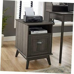 Newport Series Tall Wooden Home Office File Cabinet With Fully Extended Drawer