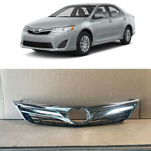 Front Upper Bumper Grill Grille Replacement For 2012 2014 Toyota Camry L Le Xle