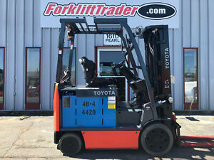 2015 Toyota Electric 8fbchu25 5000lb Cushion Tire Forklift