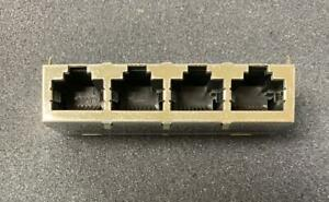 Amp 557571 2 Modular Connector 4 port 32 contact Female Jack new Qty 1