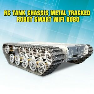 1xrc Tank Chassis Metal Tracked Robot Smart Wifi Robot Car Shock Absorption Tzt