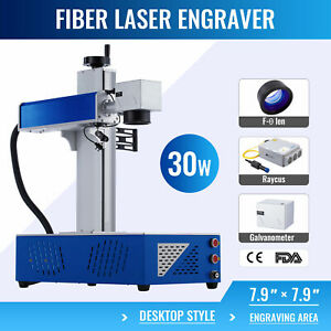 7 9 X 7 9 30w Raycus Fiber Laser Marking Machine For Metal Engraver Marker