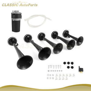 125db 5x Trumpets Musical Dukes Of Hazzard Dixie Horn With Air Compressor Kit