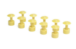 Paintless Dent Repair Glue Puller Tabs 10pc Yellow Round 17mm Dime Size