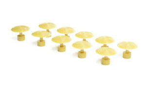 Paintless Dent Repair Glue Puller Tabs 10pc Yellow Round 34mm Fifty Cent Size