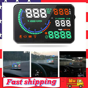 Automotive Speedometer Head Up Display 5 5 Multi Color Led Car Projector