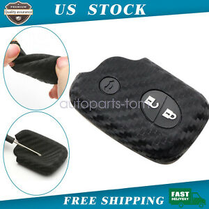 Carbon Fiber Style Soft Silicone Key Fob Cover For 05 11 Lexus Gs00 Gs350 Gs450h