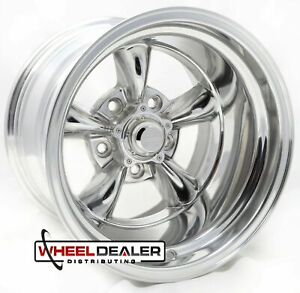 Set Of 4 15 Inch Torq Torque Thrust Vn515 Polished Wheels Rims 15x10 5x5 C10