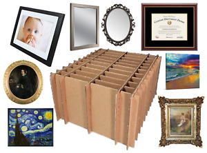 Universal Picture Frame Painting Mirror Shipping Storage Box Partition Set